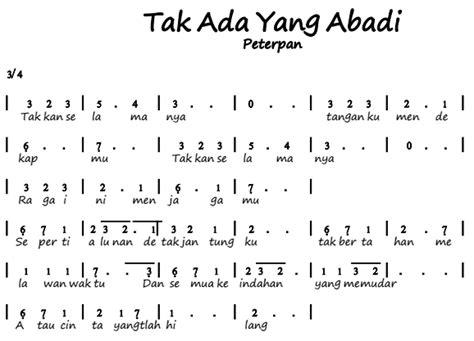 not pianika maju tak gentar not angka pianika lagu tak ada yang abadi peterpan