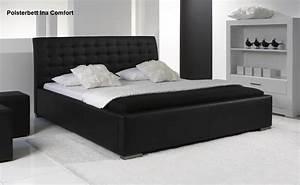 Moderne Betten 140x200 : leder bett polsterbett ina lederbett weiss oder schwarz verstepptes kopfteil g nstig ~ Markanthonyermac.com Haus und Dekorationen