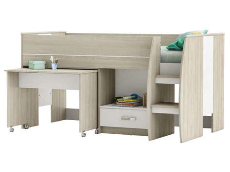 combine lit bureau lit combiné 90x190 cm switch vente de lit enfant conforama