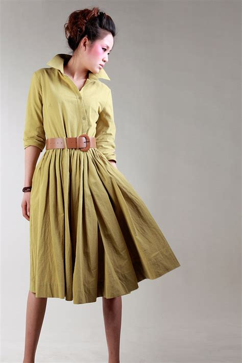 linen dress  summer office  vezilka