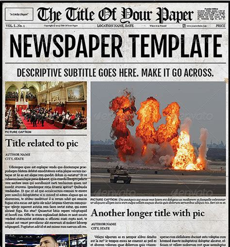 editable newspaper newspaper template cyberuse