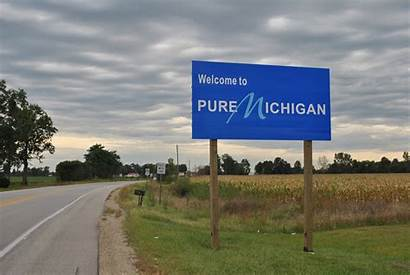 Michigan Pure State Campaign Signs Winter Flint
