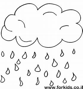 Cloude with rain drops for paint (color page) | www ...
