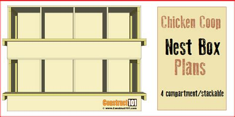 home plans with indoor chicken coop nest box plans 4 compartments stackable