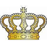 Crown Golden Cross Clipart Svg Georgian Pearls