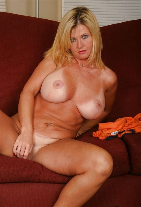Sexy Busty Blonde Milf Amber Living Room Tease 29 Pics