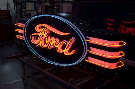 porcelain neon signs  vault custom garage storage