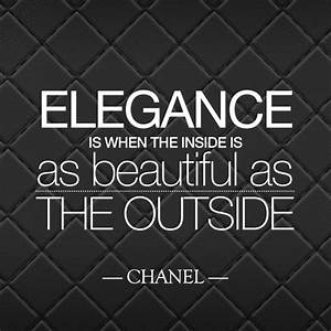 """""""Elegance ... Outside Beauty Quotes"""