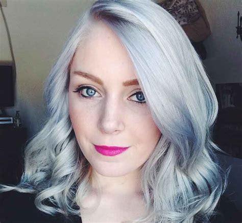 variasi warna rambut abu abu grey pria wanita