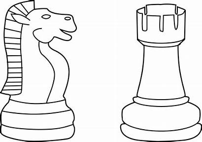 Chess Pieces Line Clip Sweetclipart