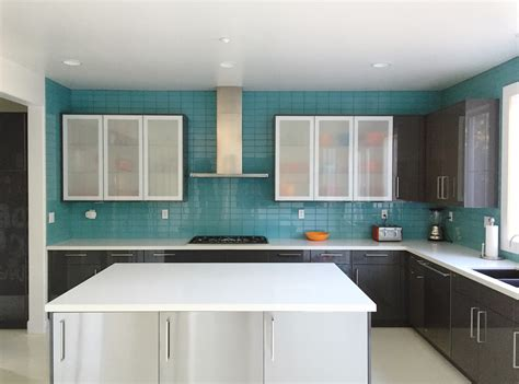 Free Standing Cabinets For Bathroom by Aqua Glass Subway Tile Modern Kitchen Backsplash Subway