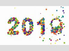 2020 New Year Card Or Template With The Date Formed Of