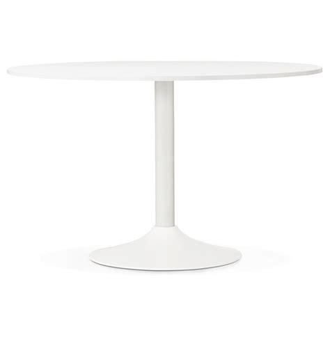 table ronde de bureau table de bureau ronde blanche orlando 120 cm table à