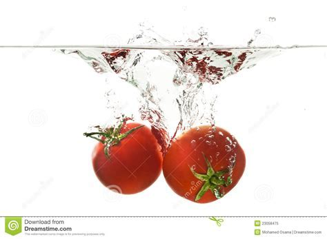 Sinking Tomato Splash Royalty Free Stock Photo   Image