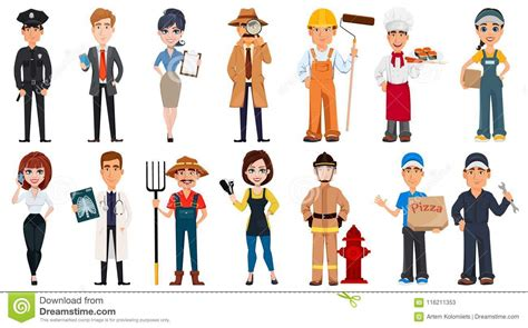Occupations Stock Illustrations