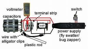 Electric Fly Swatter Circuit Diagram