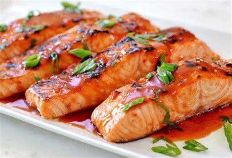 broiled salmon  thai sweet chili glaze    chef