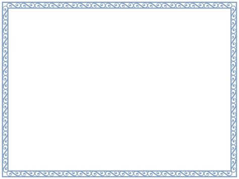 Template Certificate Borders Template Certificate Border Template Blue Aesthetecurator