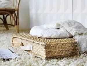 Coussin Palette Ikea : coussins blanc et coussin de sol en jacinthe d 39 eau ikea ~ Teatrodelosmanantiales.com Idées de Décoration