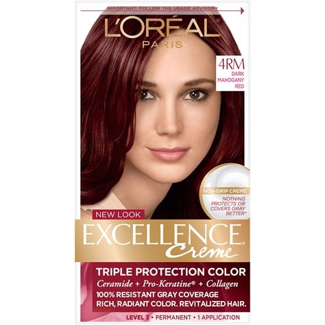 L'oreal 4rm Red Richesse Warmer Dark Mahogany Red Hair