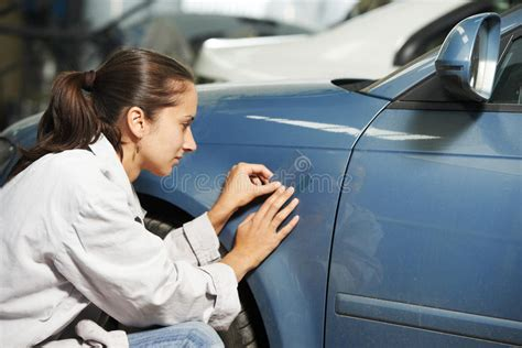 auto mechanic colourist matching color stock image image of repairing garage 39544925