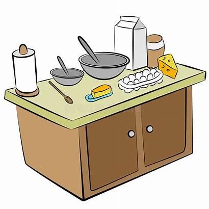 Ingredients Cooking Tools Kitchen Hilfsmittel Ingredienti Island
