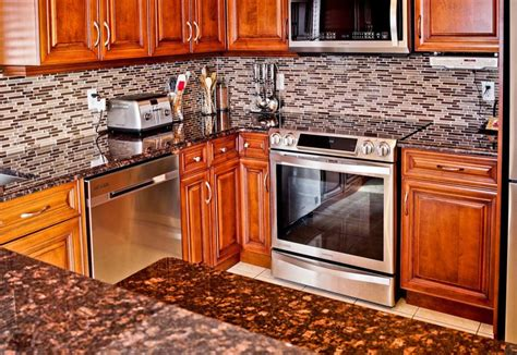 white kitchen white backsplash brown granite countertops pictures cost pros and cons