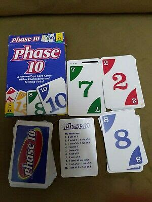 Each of these flash card games will enhance the flip ten. Mattel Phase 10 Card Game COMPLETE MINT CONDITION ...