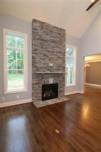 Two Story Fireplace Surround Transitional Living Room