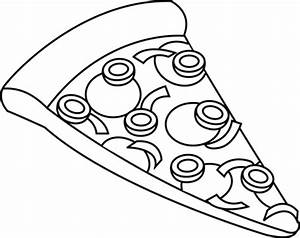 Pizza black and white clipart | clipart | Pinterest ...