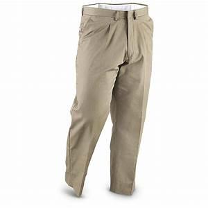 2 New Italian Military Dress Cotton Pants Tan / Olive Drab - 229926 Pants at Sportsmanu0026#39;s Guide