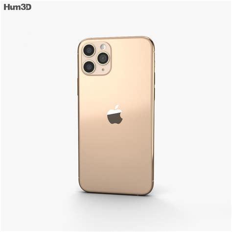 Apple iPhone 11 Pro Max Gold 3D model - Electronics on Hum3D