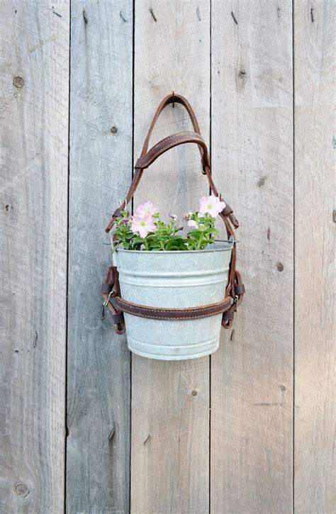 Hanging Flower Planter Pot Vintage Galvanized Bucket