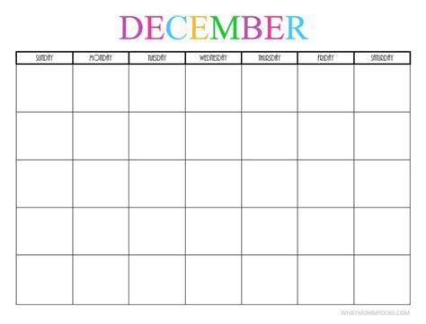 printable blank monthly calendars blank