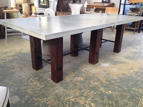 thick top dining table thick concrete top dining table mecox gardens