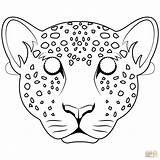 Leopard Mask Coloring Pages Para Colorear Leopardo Dibujo Leopards Printable Crafts Masks Mascara Drawing Mascaras Jumanji Dibujos Animal Preschool sketch template