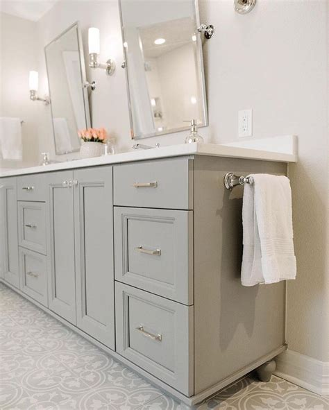 ideas  grey bathroom cabinets  pinterest