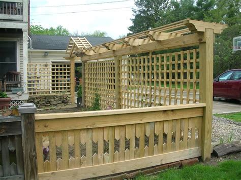 Outdoor Privacy Trellis by Hardwood Privacy Trellis Outdoor Waco How To Build