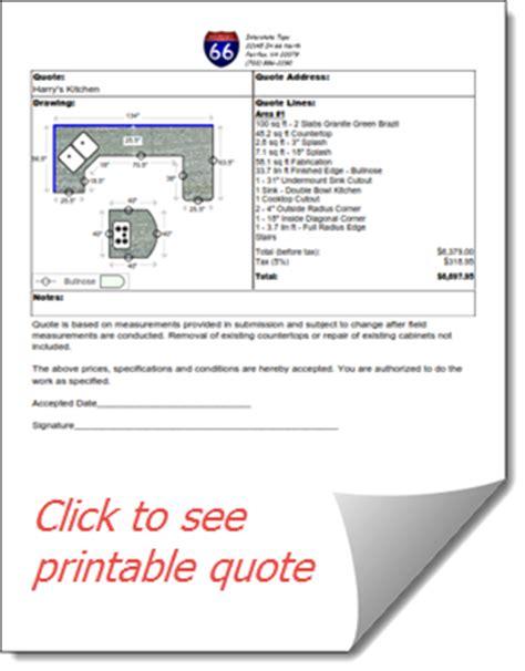 countergo estimating software for countertop fabricators