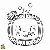 Coloring Cocomelon Birthday Sheets sketch template