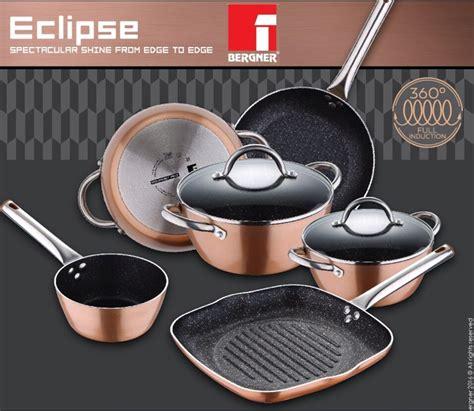 bergner copper pans pots full induction   stick  xylan  whitford ebay