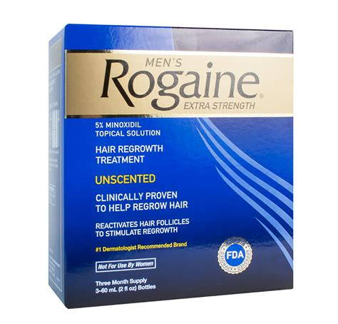 Rogaine Regaine Men 5% Minoxidil 3 Month Supply   BIOVEA