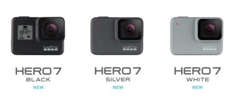 gopro hero black white silver announced