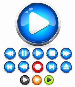 Shiny EPS10 Audio Buttons Play Button Stop Rec Rewind