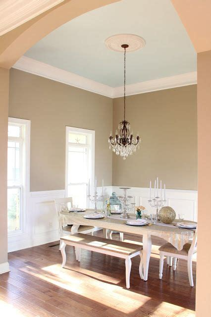 ivory brown by valspar on walls white trim and light blue ceiling a beautiful home
