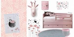 chambre enfant rose gris jasmin deco rose pour une With déco chambre bébé pas cher avec fleurs Ï envoyer pas cher