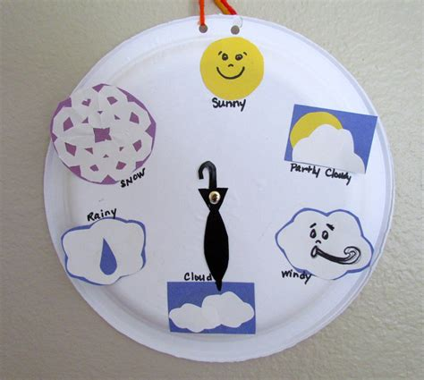 paper plate craft weather wheel chart 738 | maxresdefault