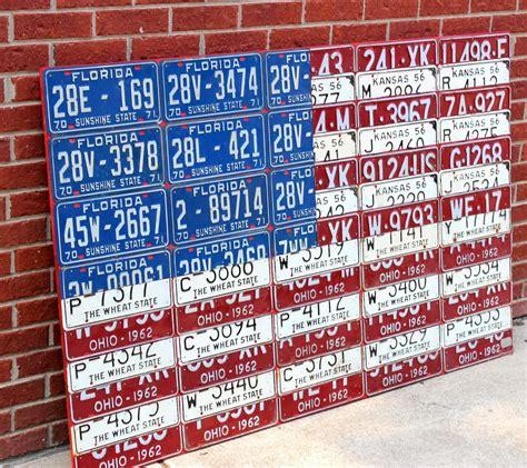 american flag license plate art bespokebug