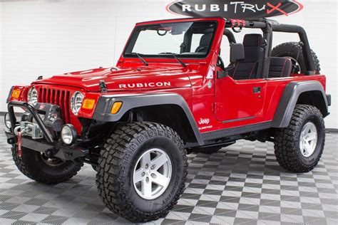 red jeep wrangler unlimited 2006 jeep wrangler rubicon tj unlimited red