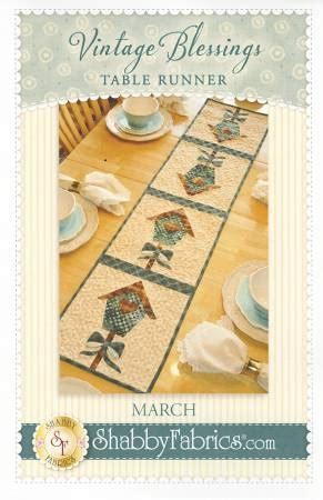 shabby fabrics table runner vintage blessings march table runner pattern by shabby fabrics